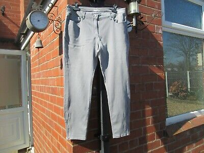Boden Grey Skinny Ankle Zip Jeans Size 18R-WC171