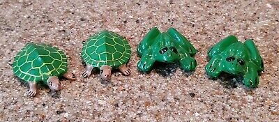 Vintage Anatomically Correct Ceramic Boy/Girl Turtle & Frog Set Hand Painted.