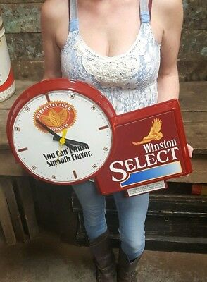 Vintage Advertising Clock Winston Select Perfectly Aged Tobacco Cigarettes