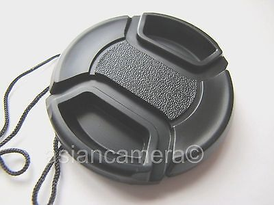 Front Lens Cap For Nikon Coolpix P7700 P-7700 + Cap Keeper Snap-on Glass Cover