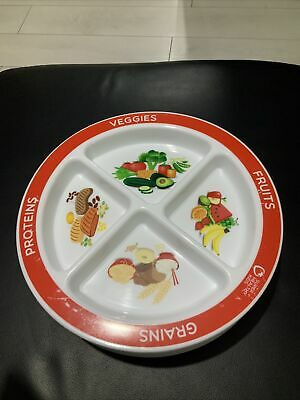 MyPlate Divided Kids Portion Plate Picky Eaters Healthy Eating - x4 Plates