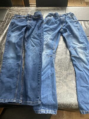 2 Pairs Boys Jeans Age 10-11 With Adjustable Waist