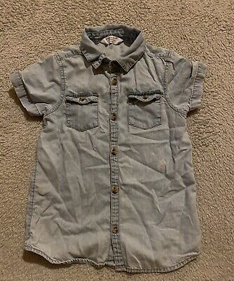 Primark Infant Boys Jean Shirt Age 2-3 Years