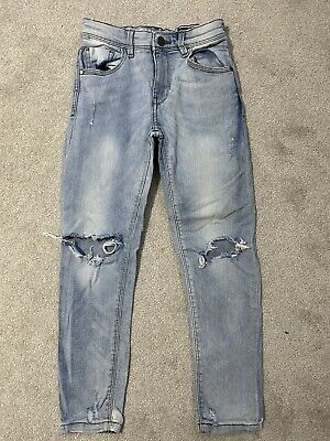 Next Boys Pale Blue Skinny Ripped Jeans Size 8 Years