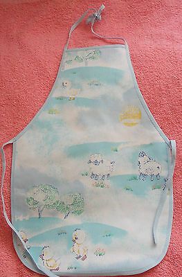 New Children's waterproof apron with chicks rabbits ducklings lambs Age 1 to 4