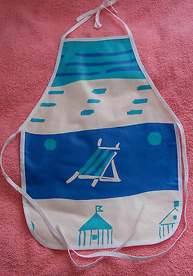 New Children's water proof apron deck chair design white piping, age 1 to 5