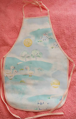 New Children's waterproof apron with chicks rabbits ducklings lambs, age 1 to 4