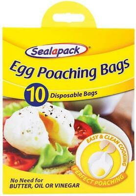 Egg Poaching 10 Bags Disposable Easy and Clean Cooking