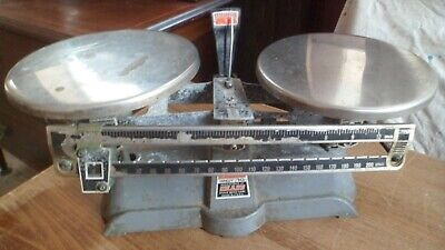 Vintage  Laboratory Apothecary Scales Balance  made in U.S.A..