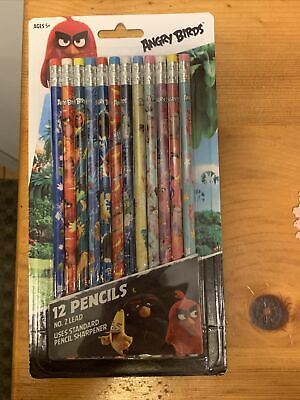 Inkology Angry Birds Set Of 12 Pencils No. 2 Lead New A19