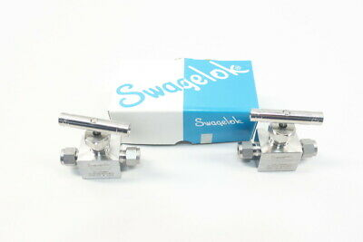 Box Of 2 Swagelok SS-26VS6-W20-W22 Manual Stainless Needle Valve 3/8in Tube