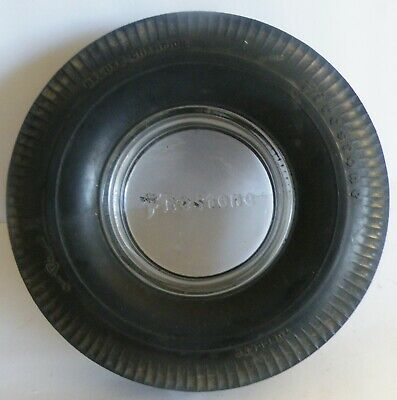 Vintage Firestone Tire Ashtray Tubeless Deluxe Champion Gum Dipped Advertising