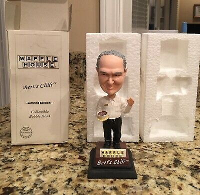 VINTAGE WAFFLE HOUSE  Bert's Chili Bobble Head  limited Edition