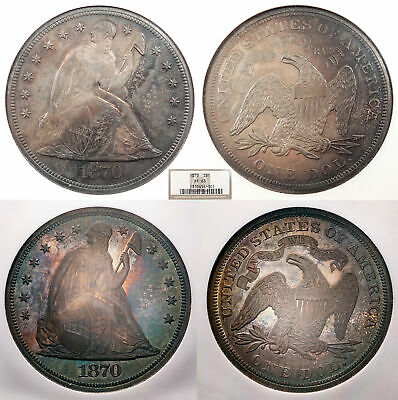 1870 Seated Liberty 1 Dollar (Silver) Proof NGC PF-63