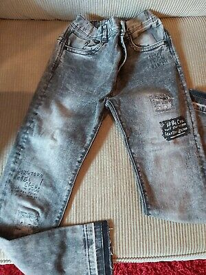 Grey Distressed Boys Jeans Age 9-10