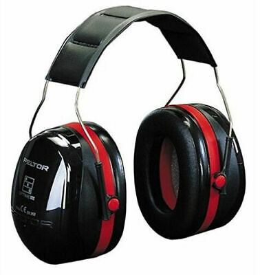 3m Peltor Optime III Ear Muffs Headband 35 DB H540a 411 SV Black Red