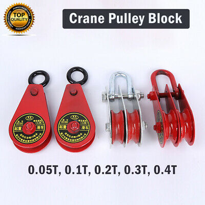 Heavy Duty Swivel Single Wheel Pulley Block Rigging Lifting Rope Lifter