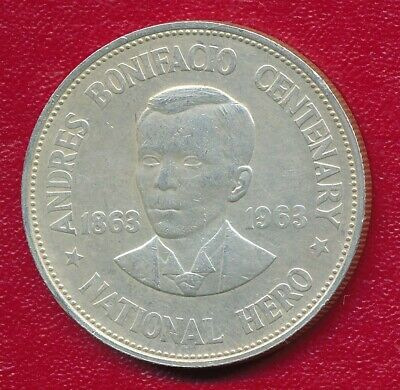 Philippines 1963 Silver One Peso Commemorative Coin **Nice Circulated**