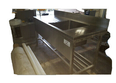 Stainless steel galley sink unit