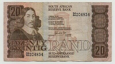South Africa 20 Rand 1985 - 1990 Pick 121 D Look Scans