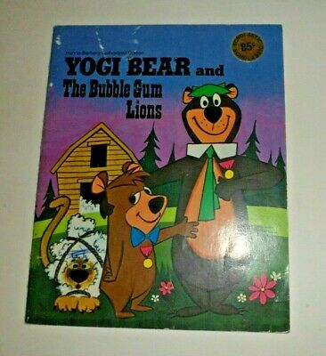 YOGI BEAR AND THE BUBBLE GUM LIONS Hanna Barbera by Horace J. Elias 1974 booklet
