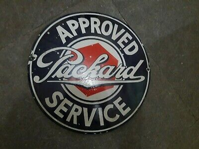 """Porcelain Approved Service  Enamel Sign Size 12"""" Inches"""