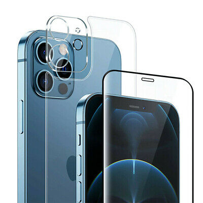 3-1 Screen Back Tempered Glass Camera Lens Protector For iPhone 12 11 XS Pro Max