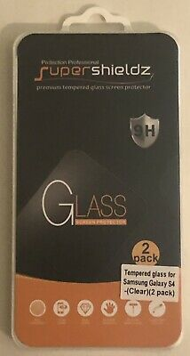 Supershieldz Tempered Glass Screen Protector Samsung Galaxy S4 2-Pack 9H