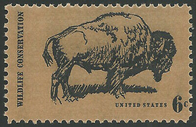 1970 American Buffalo Bison Wildlife Conservation Bison-tennial US Stamp MINT NH