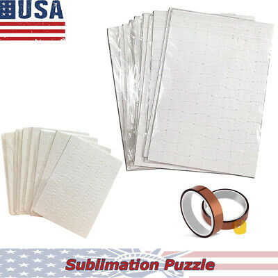 20pc A4 & 20pc A5, Sublimation Blank Puzzle DIY Craft Jigsaw Puzzle, US Seller