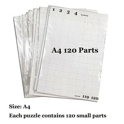 20pcs A4 size DIY Sublimation Puzzles blank pearl Jigsaw Heat Printing Transfer