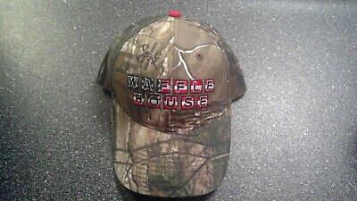 rare waffle house realtree red, white, blue camouflage hat