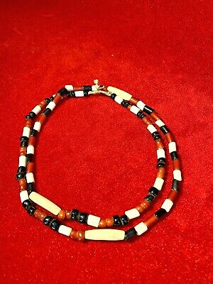 Rare Exquisite Early Venetian Glass Native American Trade Bead Necklace