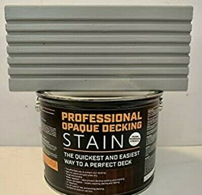 Professional Opaque Decking Stain ☆ Light Grey☆  3 Litre
