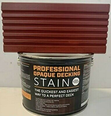 Professional Opaque Decking Stain ☆ Mahogany ☆  3 Litre