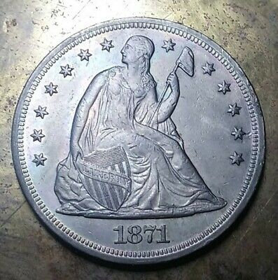 1871 Seated Liberty Dollar Coin (Q)