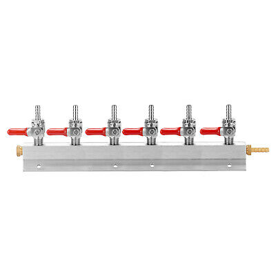 CO2 Gases Distribution Block Manifold with 7mm Hose Barbs Wine Making Tools L4V1