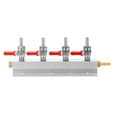 CO2 Gases Distribution Block Manifold with 7mm Hose Barbs Wine Making Tools L8J3