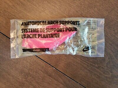 Vintage NIKE Anatomical Arch Supports Size Large Pink New In Package Men's Women
