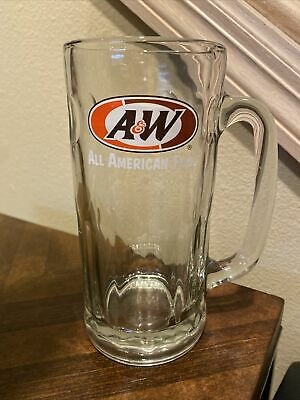 "A&W Glass Mug 7"" 20 Ounce Root Beer Soda - Great Shape! Collectible!"
