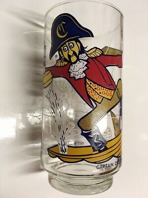1977 McDonalds Captain Crook Action Series Glass Great Condition 1977 Used