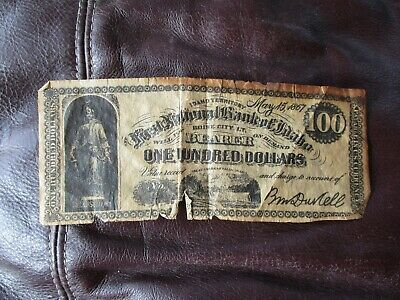 First National Bank of Idaho - Boise City I.T. 100 Dollar Bill - 1867 - Repro FS