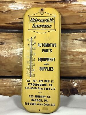 Vintage Edward R. Lawson Automotive Parts Equipment & Supplies Thermometer PA