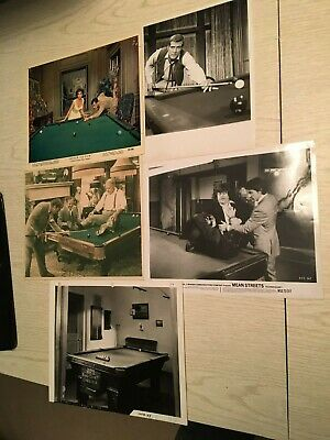 Rare Five Original Pool and Billiard Photos-Some Color-Only $25.00