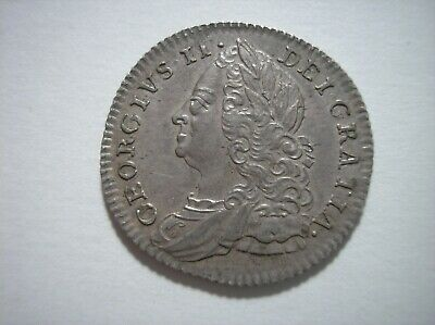 SBD13 Great Britain 1758 silver sixpence