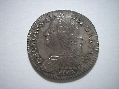 SBD12 Great Britain 1745 Lima silver sixpence
