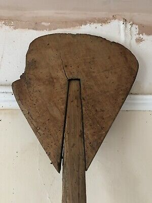 Antique Vintage French Bakery Oven Paddle, Very Long