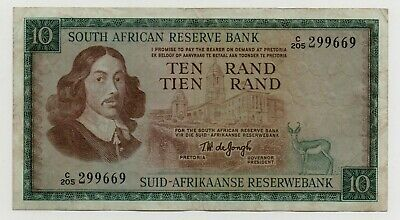 South Africa 10 Rand 1967 Pick 113 C Look Scans