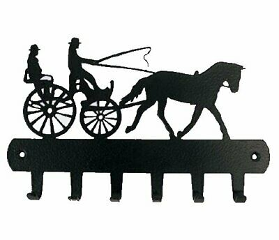 NEW Powder Coated 6 Key rack holder - Horse Driving Carriage Cart NEW