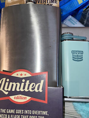 Lot of two stainless steel Flask - One Overtime 64 Ounce And One Stanley